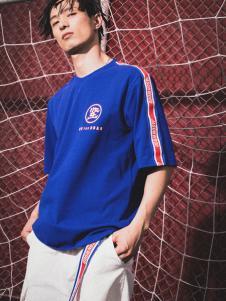 JASONWOOD個性服飾新品藍色休閑男士T恤