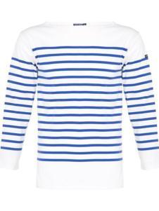 Saint James女装半蓝白条T恤