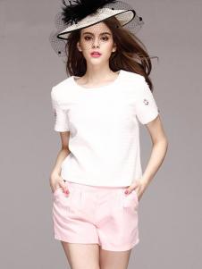 SwKzii女装白色短袖上衣