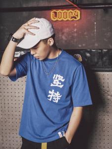 JASONWOOD蓝色简单男士T恤