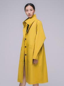 MAISON MAI 女装黄色休闲风衣