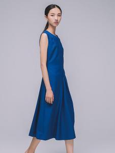 MAISON MAI 女装湖蓝无袖连衣裙