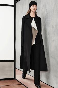 茉束女装黑色休闲长款风衣