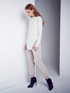 DEA+Roze女装白色不规则T恤