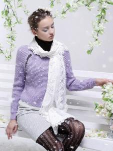 FPT女装浅紫色针织毛衣