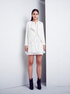 DEA+Roze女装白色休闲小西装