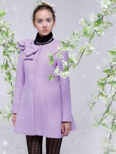 FPT女装紫色圆领大衣