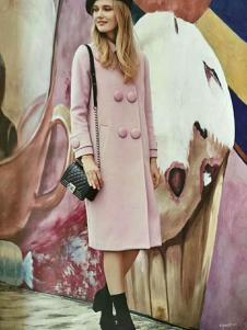 媛漫女装粉色甜美大衣