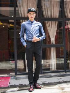 S'sRevel男装S'sRevel男装蓝色商务衬衫