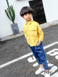 熙熙布衣黄色休闲衬衫