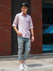 S'sRevel男装S'sRevel男装粉色商务衬衫