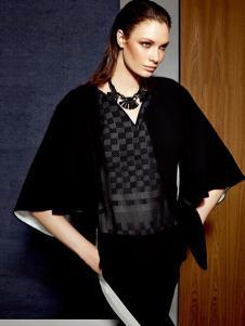 卡莉朵拉女装黑色蝙蝠衫外套