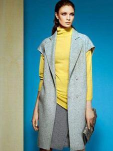 卡莉朵拉女装灰色短袖长款外套