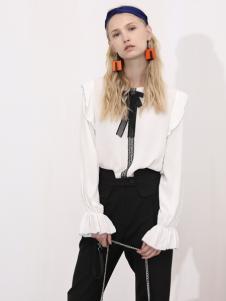 2018betu百图女装白色衬衫