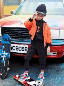 玛玛米雅男童新款橙色外套