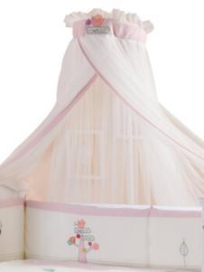 弗贝思婴儿粉色床蚊帐