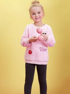 萌宝基地童装粉色小清新针织衫