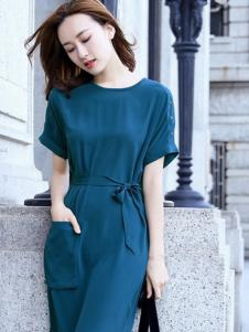例轩女装蓝色休闲连体裤