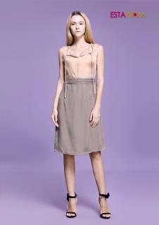estawom女装灰色中长款半身裙