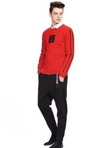 佐纳利红色毛衫