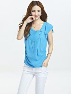 伊嘟嘟女装浅蓝短袖T恤