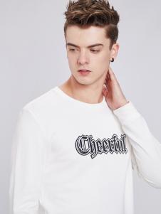 佐纳利白色T恤