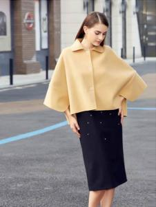灿墨女装黄色蝙蝠大衣