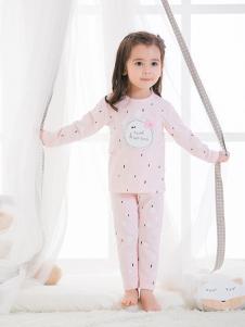 JOY MORE粉色印花字母儿童内衣
