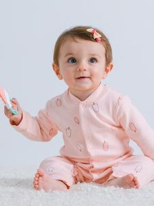 JOY MORE婴幼装杏粉连衣裙体衣