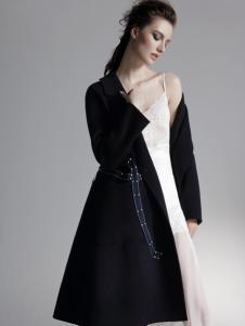 HON.B红贝缇女装黑色大衣