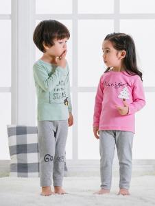 JOY MORE童装梅红字母儿童内衣