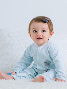 JOY MORE蓝色长袖连体婴幼装