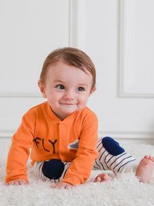 JOY MORE婴幼装橘黄字母外套