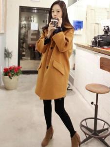 半木女装黄色休闲大衣