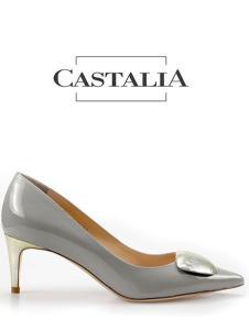 CASTALIA灰色高跟皮鞋