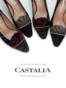 CASTALIA黑色磨砂高跟鞋
