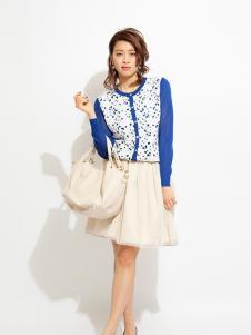 PICCIN女装蓝色印花外套