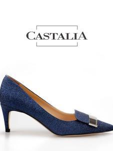 CASTALIA蓝色高跟女鞋