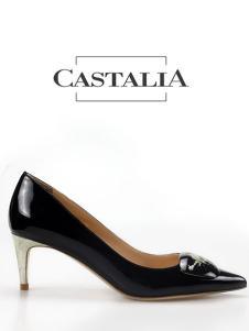 CASTALIA黑色高跟皮鞋