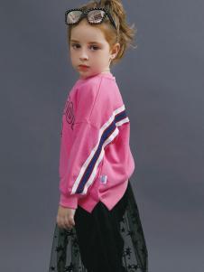 2018YukiSo童装女童粉色卫衣