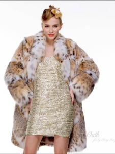 巴納奧女裝豹紋皮草大衣