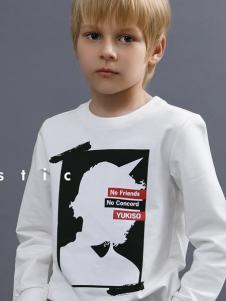 2018YukiSo男童印花卫衣