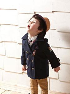蓓拉迪诺童装藏青双排扣外套