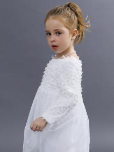 2018YukiSo女童白色连衣裙