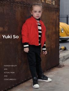 2018YukiSo女童红色夹克