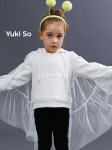 2018YukiSo女童白色卫衣