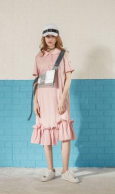 jessyline夏装粉色鱼尾连衣裙