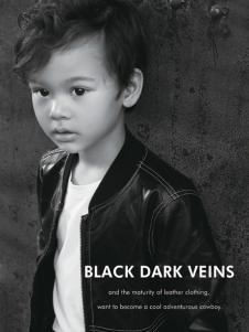 2018YukiSo男童黑色夹克