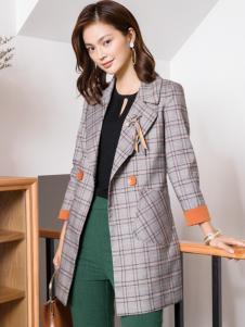 布根香女装18格子西服外套