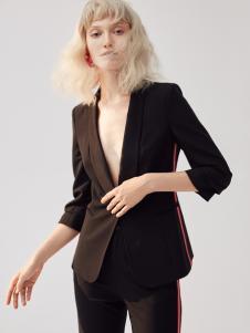 2018佧茜文黑色时尚外套